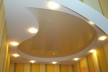 Многоуровневый натяжной потолок 20 м2